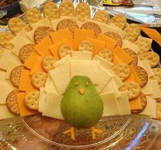 Turkey cheese platter for next year-partridge in a pear tree., - Turkey cheese platter for next year-partridge in a pear tree., Turkey cheese platter for next year-partridge in a pear tree. Thanksgiving Dinner Recipes, Thanksgiving Parties, Holiday Recipes, Fun Recipes, Thanksgiving Turkey, Thanksgiving Platter, Guava Recipes, Healthy Recipes, Holiday Appetizers