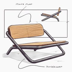 I feel like this chair could fold nice and flat, can an engineer figure it out for me, thanks . sketched on an iPad Pro with . Modular Furniture, Art Deco Furniture, Furniture Layout, Metal Furniture, Cool Furniture, Furniture Design, Refurbished Furniture, Lounge Furniture, Farmhouse Furniture