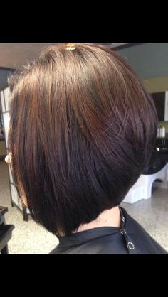 Stacked a-line bob...perfect.