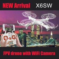 176.24$  Watch here - http://ali5h2.worldwells.pw/go.php?t=32654512816 - New Quadcopter X6SW Drohne Drone With Camer HD Helicopter Dron 4 Channels Aviao Wireless Drones HD WiFi Camera Mini Drone Racer