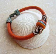 Art Jewelry Elements: Simple Leather Bracelet Tutorial