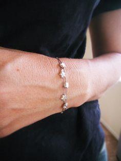 Make a Wish  Five Star Bracelet  Silver Star by WaterHorseStudios, $38.00