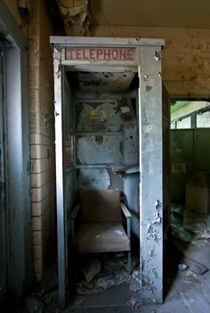 Lost | Forgotten | Abandoned | Displaced | Decayed | Neglected | Discarded | Disrepair | Old phone booth.