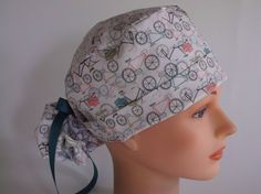 City Cycles Ponytail - Womens lined surgical lined scrub cap 878f730107d7