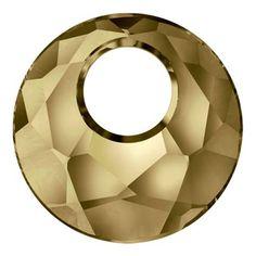 Swarovski 6041 38 mm Victory hanger. Kleur: Kristal Gouden Schaduw/Crystal Golden Shadow. Innovaties Fall 2013-Winter 2014.