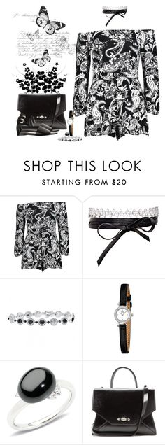 """""""Black & white"""" by sugerpop ❤ liked on Polyvore featuring Fallon, Pomellato, Givenchy and COSTUME NATIONAL"""