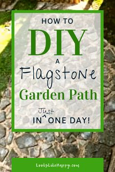 How to DIY a Flagstone Garden Path in One Day! | Make your yard a little prettier (and less muddy!) with an easy DIY flagstone path. Pin now, plan this weekend!  #diy #garden