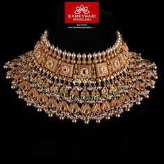 Buy Padmavathi Gold Choker Online | Gold Necklace Designs Online