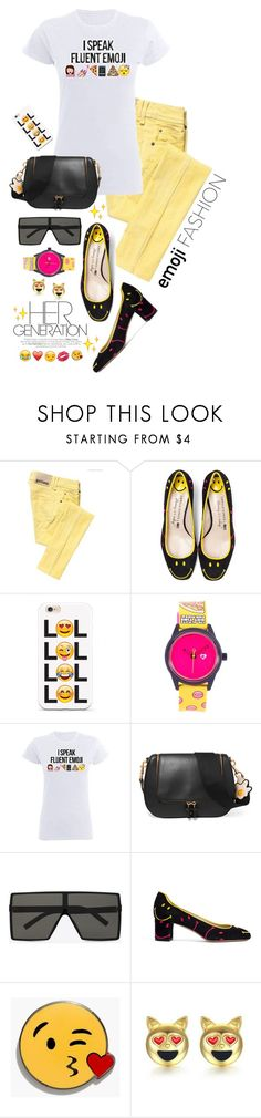 """""""Wink, Wink: Emoji Fashion"""" by shortyluv718 ❤ liked on Polyvore featuring Galliano, Harajuku Lovers, Anya Hindmarch, Yves Saint Laurent, Madewell and emojifashion"""