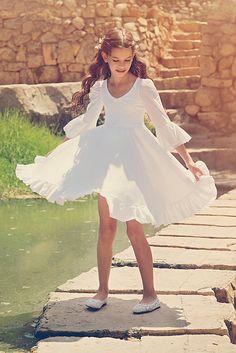 Robe blanche fille de fleur les première robe de par Bubale1