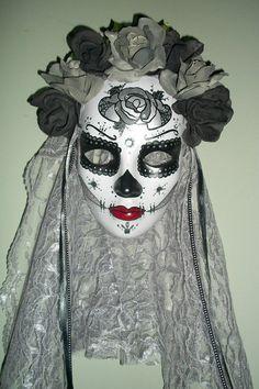 Dia de Los Muertos Masks Custom Made to Your by MADTattooedLadies, $75.00