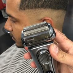 ✂️Mid Fade w/ Hard Side Part✂️ - Love how @squeakprobarber makes his blending process so easy to ...