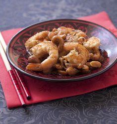 Crevettes sautées aux noix de cajou et cacahuètes - Ôdélices : Recettes de cuisine faciles et originales !