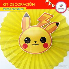 Pokémon: kit decoración - Todo Bonito