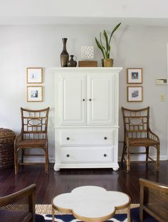 These vintage bamboo chairs were a steal! Check out these, plus lots of other thrifted items styled in bloggers' homes as part of the Thrifty Style Series.