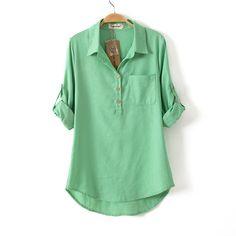 Encontrar Más Blusas y Camisas Información acerca de Nueva moda Casual camisa da…