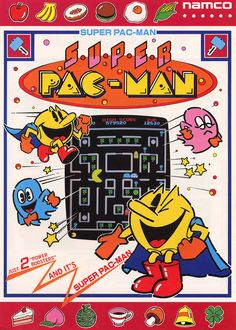 Classic Ads: Super Pac-Man (1982)  Super Pac-Man (スーパーパックマン), released in 1982 is the third installment of the Pac-Man series of arcade games and the second starring Pac-Man himself. It is also the second game to be created by series originator Namco, as Ms. Pac-Man (the second in the series) was created without Namco's involvement.  Super Pac-Manwas only a moderate success in the 1980s as an arcade machine, and thus has not been as widely ported to homevideo game consolesas the original