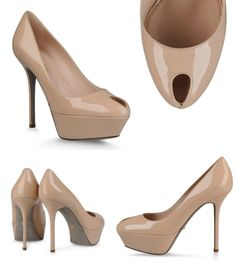 Escarpins Sergio Rossi Cachet Peeps, Peep Toe, Platform, Shoes, Fashion, Classic, Heels, Moda, Wedge