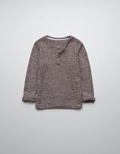 twist knit sweater - boys
