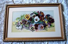 c1890s Pansies Half Yard Long Grace Barton Allen Pansy Flower Floral Chromolithograph
