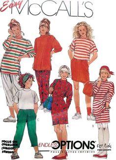 McCall's 5634 Girls Endless Options Wardrobe Sewing Pattern Size 10 12 14 #McCalls