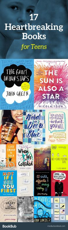 17 heartbreaking books for teens, including popular and bestselling novels. These life changing books are great for boys, girls, and for adults, too!