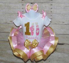 Ballerina Tutu, Ballerina Birthday, Birthday Party Hats, 2nd Birthday, Birthday Gifts, Ribbon Tutu, Cake Smash Outfit, Tutu Outfits, Birthday Numbers