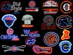 Chicago Cubs Neon Signs