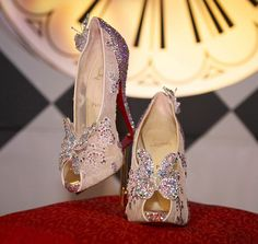 CHRISTIAN LOUBOUTIN has debuted the much-anticipated Cinderella shoes he designed in collaboration with Disney during Couture Fashion Week. There are only twenty of these crystal-covered design with butterfly-embellished pumps..