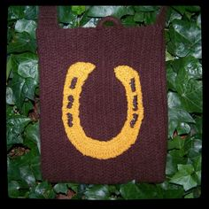 Horseshoe Bag Crocheted Felted by peacelovecreations on Etsy, $45.00
