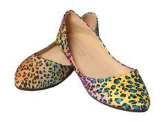 Multi Colored Leopard Flats