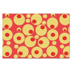 Red and gold circles tissue paper 10 x15 tissue paper by Khoncepts.com with matching gift bag