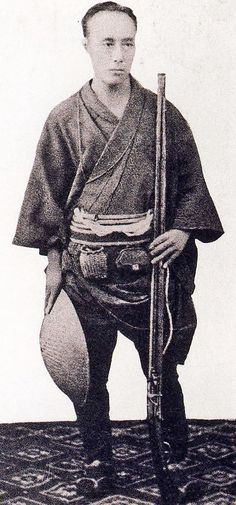 Tokugawa Yoshinobu, 1837 – 1913, shown with jingasa (war hat) and matchlock musket, was the 15th and last shogun of the Tokugawa shogunate of Japan. He was part of a movement which aimed to reform the aging shogunate, but was ultimately unsuccessful. After resigning in late 1867, he went into retirement, and largely avoided the public eye for the rest of his life. In 1902, the Meiji Emperor allowed him to reestablish his own house as a Tokugawa branch (bekke) with the rank of prince…