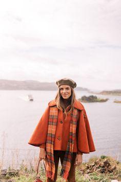 Gal Meets Glam Our Scotland Adventure Part 4 -Chloe Cape, J.Crew turtleneck, Old Navy jeans, Gucci loafers & Mansur Gavriel bag