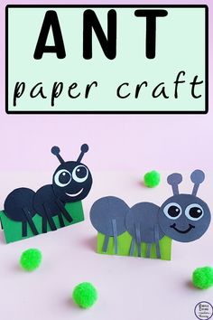 Ants are everywhere and kids love to watch these tiny creatures running around in the garden. Now they can bring the ants inside with this cute ant paper craft. Daycare Crafts, Classroom Crafts, Toddler Crafts, Preschool Crafts, Ant Crafts, Insect Crafts, Paper Crafts, Garden Crafts, Garden Projects