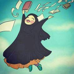 Cute Muslim Couples, Muslim Girls, Muslim Women, Anime Muslim, Muslim Hijab, Muslim Pictures, Hijab Drawing, Islamic Cartoon, Hijab Cartoon