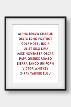 NATO Phonetic Alphabet, Aviation Decor, Pilot Gift, Boys Room Decor, Gift For Him, Morse Code, Military Decor  26 code words assigned to the 26 letters of the English alphabet. Ideal for pilots, future pilots or aviation enthusiasts. Aviation Art for your home or your office. #phoneticalphabet #alphabet #pilotgift #aviationdecor #kidsroomdecor #giftforhim #boysroomdecor  #militarydecor Nato Phonetic Alphabet, Aviation Decor, Pilot Gifts, Printable Bible Verses, English Alphabet, 26 Letters, Morse Code, Boys Room Decor, My Bible