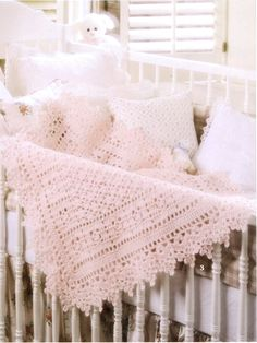 Crochet Pattern Pink Victorian Baby blanket for your baby, Tutorial Crochet Pattern PDF