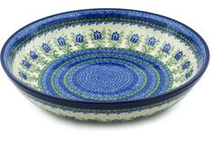 Polish Pottery 13-inch Bowl   Boleslawiec Stoneware   Polmedia H4477H