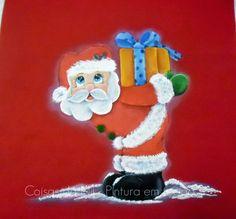Coisas da Nil - Pintura em tecido: Papai Noel no vermelho!!
