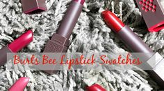 Burt's Bees Lipsticks | Lip Swatches