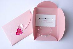 Gastgeschenke - Trauzeugin Danksagung + Rosa Geschenkverpackung - ein Designerstück von Stella-Kobenhavn bei DaWanda