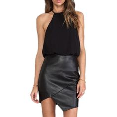 Dear-lover Women's Halter Chiffon Top Fashion Mini Dress Medium Size Black Plus Size Cocktail Dresses, Plus Size Maxi Dresses, Cheap Dresses, Sleeveless Dresses, Vestidos Chiffon, Mini Vestidos, Style Noir, Mode Style, Dress To Party