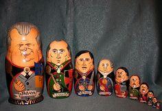 Rare! UKRAINIAN MATRYOSHKA HETMANS UKRAINE Khmelnytsky Mazepa Petliura Bandera