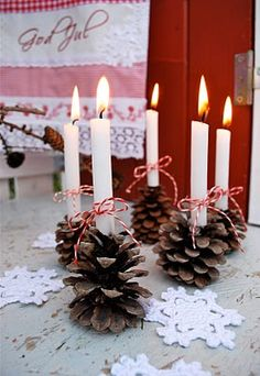 Christmas decoration pinecones