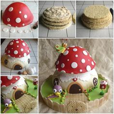 How to DIY Fairy Baby TV Mushroom Cake | www.FabArtDIY.com LIKE Us on Facebook ==> https://www.facebook.com/FabArtDIY