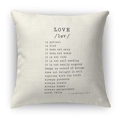 "Kavka Love Is 2 Indoor Throw Pillow Size: 18"" H x 18"" W, Color: Black"