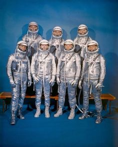 On April 9, 1959, NASA announced the first seven American astronauts: Alan Shepard, Gus Grissom, John Glenn, Scott Carpenter, Wally Schirra, Gordon Cooper, and Deke Slayton. These seven men would become known as the Mercury Seven.