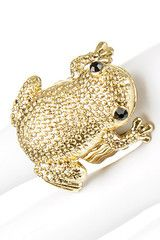 Gold Frog Fashion Ring These are the kind of things i buy all the time.. Bonnie Queen