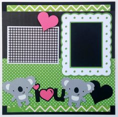 Baby scrapbook layout Valentines day scrapbook by ohioscrapper